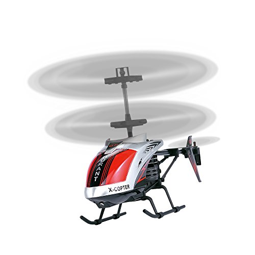 AMOSTING, RC Helicopter Crash Resistant 3.5 Channels with Gyro and LED Light for Indoor Outdoor Ready to Fly - Color Black