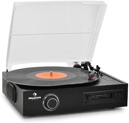 Auna TTS-T33 - Tocadiscos para equipo de audio (USB, 50 Hz), negro ...
