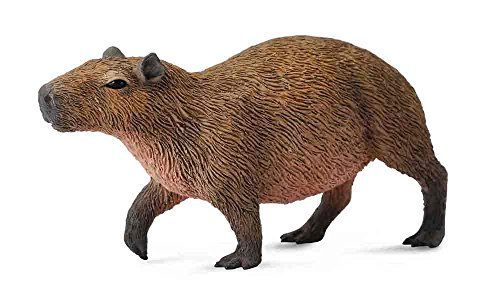 (CollectA Woodlands Capybara Miniature Toy Figure - Authentic Hand Painted Model )