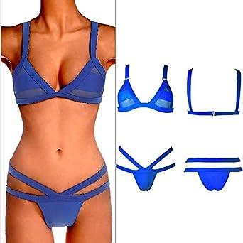 Traje de baño para Mujer Bikini en la Playa Cuerda para Corbata ...