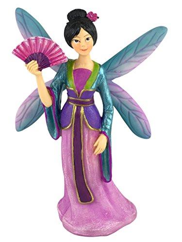 (GlitZGlam Fairy Kai The Beautiful Asia Miniature Fairy for Your Fairy Garden/Miniature)