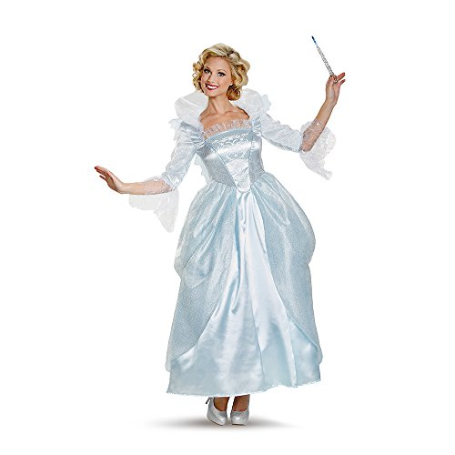 [Disguise Women's Fairy Godmother Movie Adult Prestige Costume, White, Small] (White Fairy Costumes)