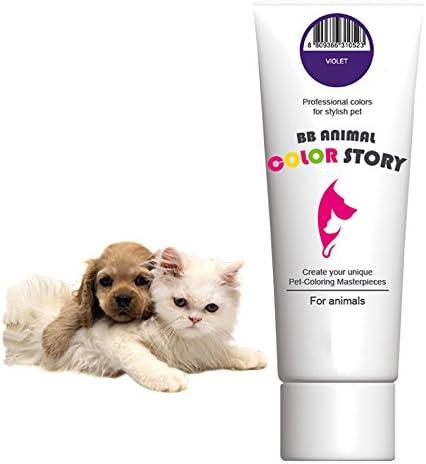 RK Violet 50 ml de tinte de pelo para perro colorante de pelo blanqueador de colores profesionales para mascotas elegantes