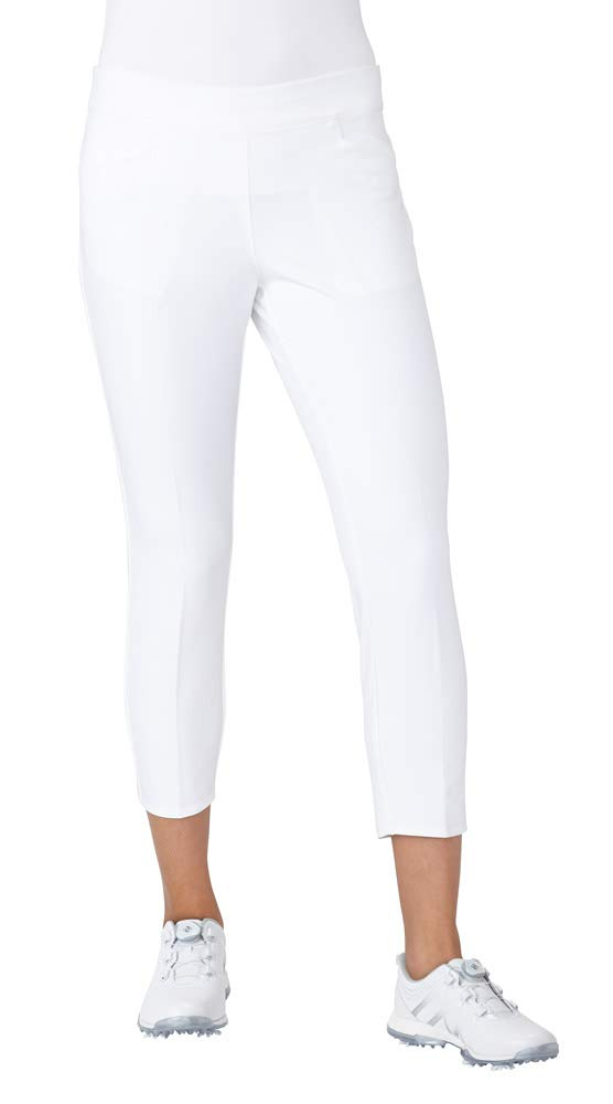 adidas Golf Women's Ultimate Adistar Ankle Pants, White, X-Large by adidas