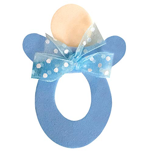 Cute Baby Shower Pin, Set 10 Pieces, Blue Pacifier, Decorations, Handmade Baby Shower Pins for Guest to wear, Ornament to decore Your Party. Craft Ideas, use in Baby Sex Reveal (Handmade Baby Shower Invitation)