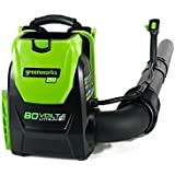 GreenWorks 80V 145MPH - 580CFM Cordless Backpack Blower, Battery Not Included, BPB80L00