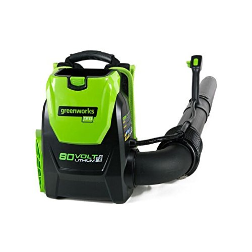 Greenworks BPB80L00 80V 145MPH - 580CFM Cordless Backpack Blower, Battery and Charger...