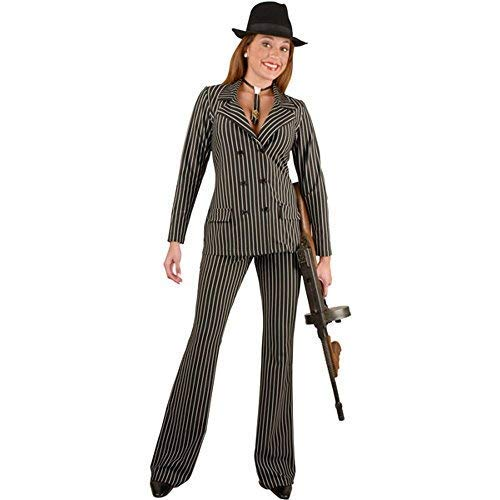 Charades Women's Gangster Suit Costume, X-Large