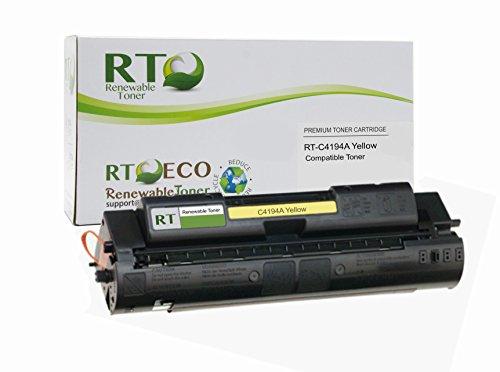 Renewable Toner Compatible Toner Cartridge Replacement for HP 640A C4194A Color Laserjet 4500 4550 (Yellow)