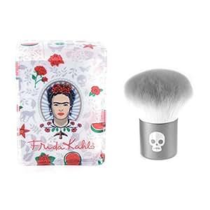 Frida Kahlo Professional Kabuki Makeup Brush Kit with Cosmetic Storage Case