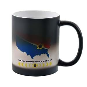 MJARTORIA Total Solar Eclipse Mug August 21, 2017 Color Changing Coffee Mug Heat Sensitive Tea Cup Gift