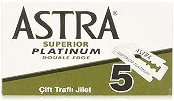 Astra Platinum Hojas de afeitar de doble filo (inoxidable), 20 cajas ...