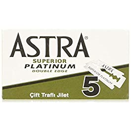 Astra Platinum Double Edge Safety Razor Blades ,100 Count (Pack of 1)