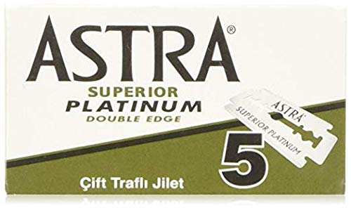 Astra Platinum Double Edge Safety Razor Blades ,100 Blades (20 x 5) (Best Quality Safety Razor)