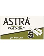 Astra Superior Platinum Double Edge Razor Blades - 20 packs of 5 (100 Blades)