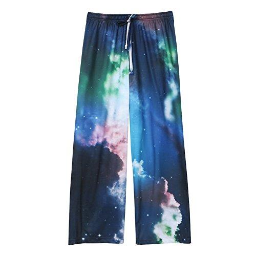 Galaxy Pajama Pants (Women's Galaxy Design Lounge Pants - Elastic Drawstring Waistband - Small)