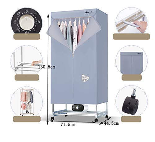 Amazon.com: YXGH@ Clothes dryer 1200W Electric laundry drying rack Dryer Mute Power saving Warm air dryer Small clothes hanger Wardrobe machine Dryer: Home ...