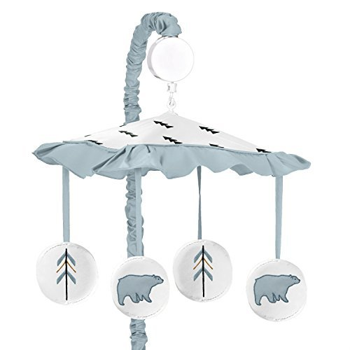 Sweet Jojo Designs Musical Baby Crib Mobile for Bear Mountain Watercolor Collection by