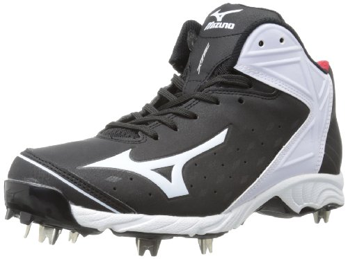 Mizuno Usa Mens Men's 9-Spike ADV Swagger2 Mid Baseball Cleat,Black/White,10 D US