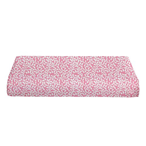 BKB Bassinet Sheet, Plume Bloom Pink, 12'' x 28'' by bkb