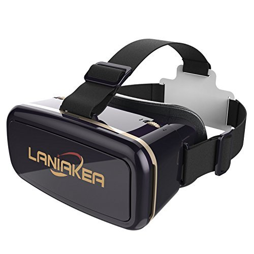 "Virtual Reality Headset 3D VR Glasses by LANIAKEA – High Definition Optical Lens, Fully Adjustable Strap, Focal and Object Distance – Perfect VR Headset for iPhone, Samsung and any Phones 3.5"" to 6"""