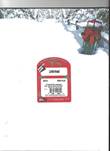 Masterpiece Studios Snowy Sled Letterhead Stationery - Pack of 25 Sheets (Masterpiece Studios Stationery)