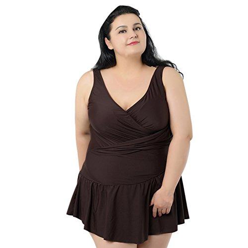 Smartcoco Plus Size Women One-Piece-Skirt Style Swimsuit ...