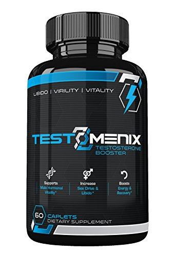 TestoMenix- All Natural Testosterone Booster- Increase Libido-Energy-Muscle Mass-60 Caplets