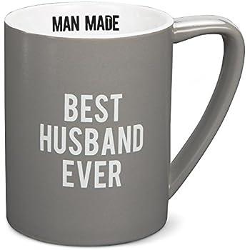 Pavilion Gift Company Man Made Best Husband Ever Coffee Mug, 18 oz, Gray