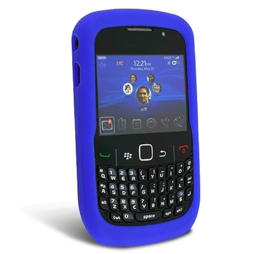 Blue Silicone Rubber Gel Soft Skin Case Cover for Blackberry Curve 8520 8530 3G 9300 9330 Phone