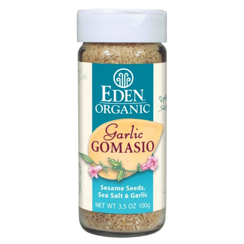 Eden Organic Garlic Gomasio, Sesame Seeds, Sea Salt & Garlic, 3.5-Ounce Shakers (Pack of 12) by Eden