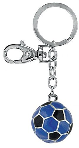 Ten Llavero Balón de fútbol Negro y Azul cod.EL3056 cm 10x3x1h by ...