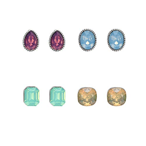XBKPLO Women's Earrings Set Fashion Vintage Boho Simple Wild Lovely Multiple Gem Small Stud Earrings Jewelry Gifts Accessories