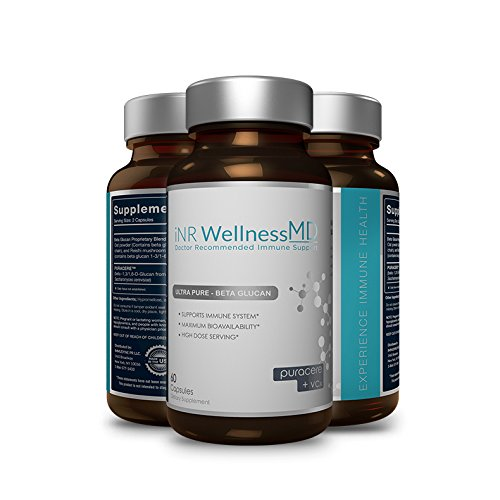 Inr Wellness MD - Ultra-Pure Beta-Glucan | Dietary Supplement with PURACERE (VCx) for Immune Support | 508mg (60 Caps)