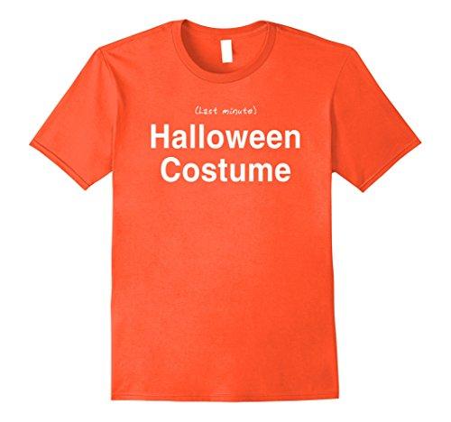Mens Funny Last Minute Minimalistic Halloween Costume T-Shirt 2XL Orange - Last Minute Funny Halloween Costume Ideas For Men