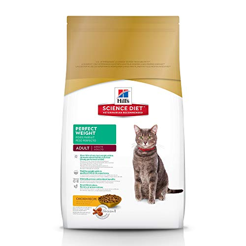 Hill's Science Diet Dry Cat Food, Adult, Perfect Weight, Chicken Recipe, 15 lb bag