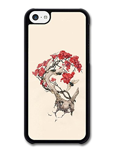 Insects and Tree Cool Illustration Design case for iPhone 5C