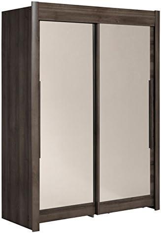Tousmesmeubles Armario Dressing 2 Puertas 160 cm Nogal – Jade – L 157 x l 61 x H 207 – Neuf: Amazon.es: Hogar