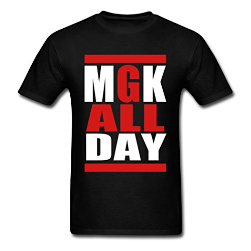 PEILIN Black Classy Mgk All Day shirt L