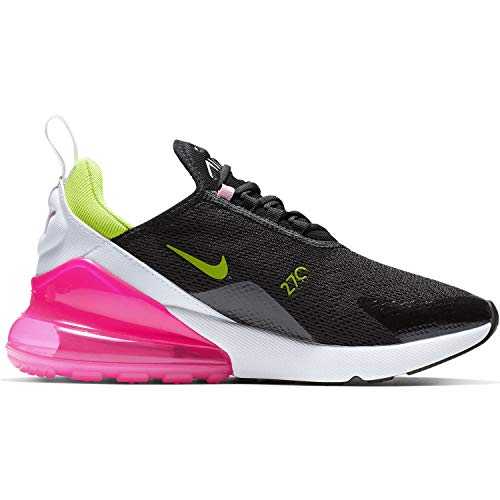 Nike Women's Air Max 270 Black/Cyber/Pink Rise CI5770-001 (Size: 6.5)
