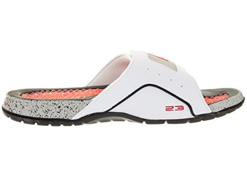 Nike Hommes Jordan Hydro Iv Rétro Blanc / Feu Rouge / Noir / Tech Gris Sandale 14 Hommes Nous