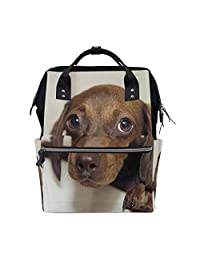 14232e0500 imobaby Cute Dachshund Changing Bags Large Capacity Handbags Canvas  Shoulder Bag Backpack