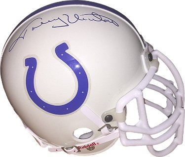 RDB Holdings & Consulting CTBL-B19510 Johnny Unitas Signed Baltimore Colts Riddell Authentic Mini Helmet from RDB Holdings & Consulting