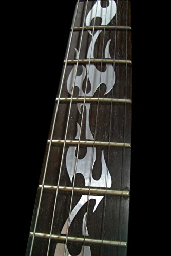 Fretboard Markers Inlay Sticker Decals for Guitar - Fire Flames - Metallic by Inlaystickers (Image #1)