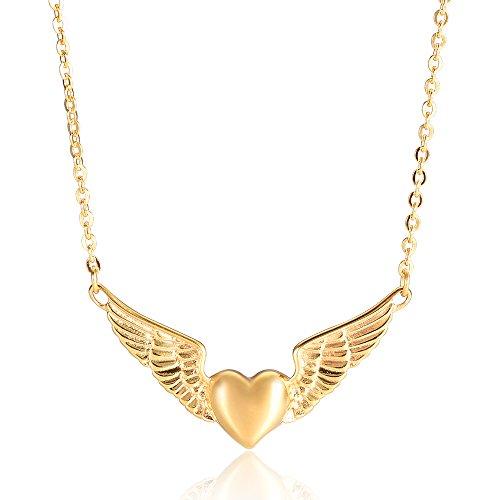 memorial jewelry Foreverlove Angel Wings Pendant Memorial Ashes Urn Pendant Cremation Ashes Urn Jewelry - ()