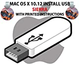 Mac OS X 10.12 Install USB Sierra Installation Recovery Upgrade Update Full OSX Operating System 16Gb Flash Drive