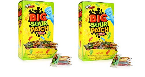 480-Count,Bulk Sour Patch Kids Sweet and Sour Halloween Candy, Trick or Treat Individually Wrapped Packs -