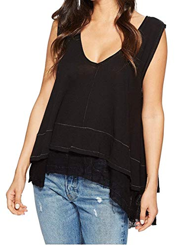 Free People Women's Peachy Layered Hem Knit Top