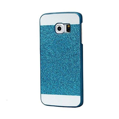 Tongshi para Samsung Galaxy S7 edge,Cubierta de la caja del Rhinestone cristalino de lujo (dorado) Azul