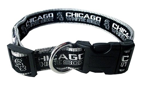 Pets First Chicago White Sox Nylon Collar and Matching Leash for Pets MLB Official Size Large